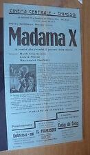 FLYER CINEMA CENTRALE CHIASSO 1934 FILM MADAMA X RUTH CHATTERTON L.STONE HACKETT