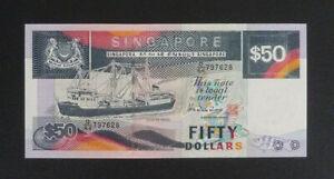 Singapore Banknote - $50 Ship Series (1984 - 1999) aUnc (P22b)