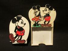 Mickey Mouse & Minnie Mouse Disney Vintage Plastic Letter Holder & Pen Holder
