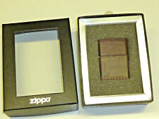 ZIPPO CLICK LIGHTER W. BROWN LEATHER- NEVER STRUCK - OVP - 2004 -LIMITED EDITION