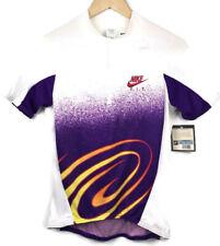 Nike Purple 90's VTG Cycling Purple White Bike Jersey 1/2 Zip Top NWT Womens M