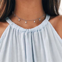 Women Choker Nice Necklace Chocker Star Gold/Silver Chain Simple Jewelry Gifts