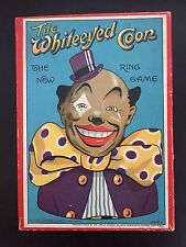 RARE ANTIQUE 1920'S WHITE EYED COON RING TOSS GAME – ORIGINAL BLACK AMERICANA