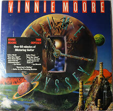 "SIGNED UFO VINNIE MOORE AUTOGRAPHED SOLO 12"" ALBUM W/PIC"