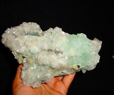 Green Apophyllite Crystal w/ Stilbite On Matrix Minerals Specimen #A92