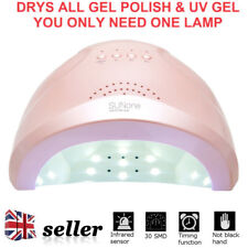 UK 48W SUNone LED UV Nail Lamp Light Gel Polish Cure Nail Dryer UV Lamp Pink