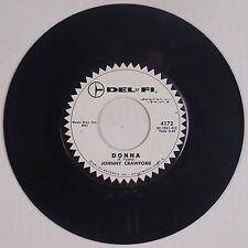 JOHNNY CRAWFORD: Donna / Patti Ann USA DEL FI DJ  45 VG++ 50s Teen