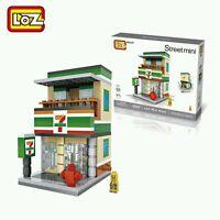 Apple Starbucks 7-11 KFC McDonald Nike Donuts street mini LOZ iBLOCK Lego Block