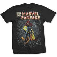 Marvel Fanfare Comic Poster Official Marvel Avengers Black Mens T-shirt