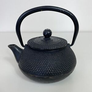 Hillpoint Hobnail Brown Metal Cast Iron Traditional Vintage Teapot Collectible