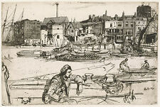 James McNeill Whistler Reproductions: Black Lion Wharf - Fine Art Print