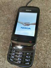 Nokia C2-02 Negro Teléfono Móvil O2 & GiffGaff red Buenas Condiciones
