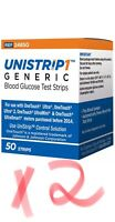 UniStrip 100 Test Strips Use w/ Onetouch Ultra Meters-Freaky Fast Shipping 👍
