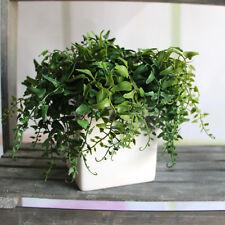 Fresh Melon Seeds Fern Fake Plant Artificial Leaves Vine Home Decor Decoration