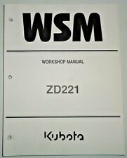 Kubota ZD221 Zero Turn Mower Tractor Service Shop Repair Workshop Manual OEM!