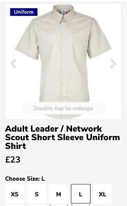 Scout Leader Uniform Short Stone Sleeve Stone Blouse Large