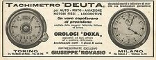 W9179 Tachimetro DEUTA - Orologi DOXA - Pubblicità del 1923 - Vintage advert