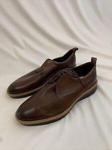ECCO Men's St1 Hybrid Plain Toe Oxford Color (Cognac Smooth) Brown Size 12