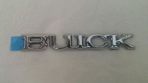 New Genuine GM Buick Nameplate Emblem Silver / Chrome OEM NOS