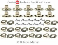DOT - Turnbutton 6mm kit with screws common sense fastener boat canopy cover