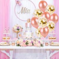 Rose Gold Foil Latex Balloon  Confetti Star Balloon Wedding Birthday Party Decor