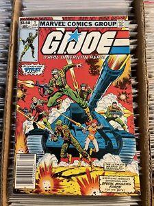 GI JOE A REAL AMERICAN HERO #1 NEWSSTAND COVER 1st APP KEY BOOK 1982 scarlett