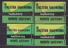 POLAND 1959 Matchbox Label - Cat.Z#140 Ammonium nitrate, cheapest, nitrogen fert