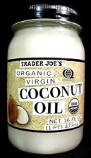Trader Joe's Organic Virgin Coconut Oil 16 FL OZ (473ml) Glass Jar