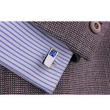 Stainless Steel Silver Mens Cufflinks Dress Business Shirt Wedding Cuff Link
