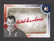 ITG Forever Rivals Emile Butch Bouchard Montreal Canadiens Autograph Card #A-BB