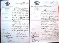 1916 166) BOLOGNA LETTERA AUTOGRAFE DI RAFFAELE SANTOLI ACCADEMIA FILARMONICA
