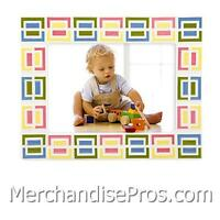 GORHAM MERRY-GO-ROUND 'PITTER PATTER' OUR NEW BABY PICTURE FRAME HOLDS 5x7 PHOTO