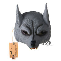 Wolf Animal Half Face Latex Mask Halloween Party Dress Props Masquerade Costumes
