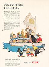 1957 Ford Fairlane 500 Club Victoria - Vintage Advertisement Car Print Ad J468
