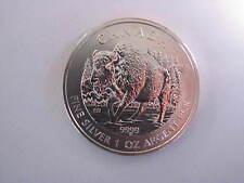 2013 1 oz Silver Canadian Wood Bison/Wildlife Series