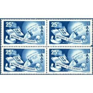 BLOC DE 4 SARRE N°277 TIMBRES POSTE NEUFS** -- 1950