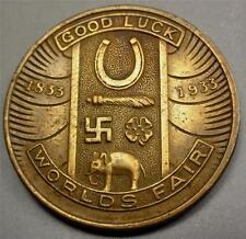 1933 CHICAGO WORLD'S FAIR Medal-Good Luck Token Swastika & other symbols ME6253