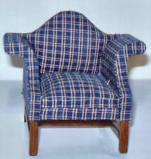 PROVIDENCE WING CHAIR WALNUT FINISH DOLLHOUSE FURNITURE MINIATURES