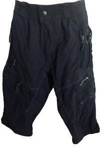 Endura Black Cycling 3/4 length pants unisex Small