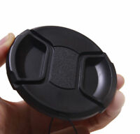 52MM Center Snap-on Lens Cap Cover with Cord Filter For Nikon Camera Photography