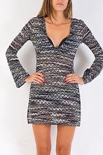 Dress Top  MISSONI Italy Black White Blouse Mini Sexy Authentic Women 4