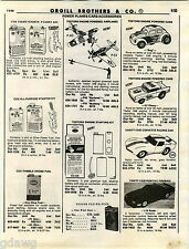 1980 ADVERTISEMENT Testors Toy Engine Vanity Fair Matchbox Counter Display Cox