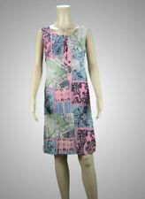 SOGGO PARIS Sommerkleid Ärmellos Crinkle Paisley Pastell bequem+angenehm leicht