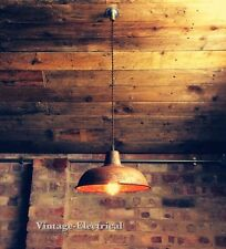 INDUSTRIAL VINTAGE FACTORY HANGING CEILING TABLE LIGHT FITTING VINTAGE LAMPS BAR