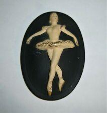 Chalkware Ballerina Plaque Wall Decor 1957 Miller Studio Inc Vintage Mid Century