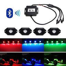 Universal RGB Multi-Color LED CREE Rock Light Kit w/ Bluetooth Jeep Truck SUV