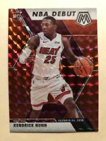 2019-20 Panini Mosaic NBA Debut Kendrick Nunn Red Wave Prizms Rookie Card #268