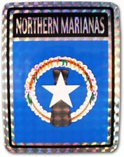Wholesale Lot 12 Northern Marianas Flag Reflective Decal Bumper Sticker