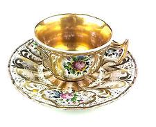 Antique Royal KPM Gilted Tea Cup and Saucer - c. 1790-1802