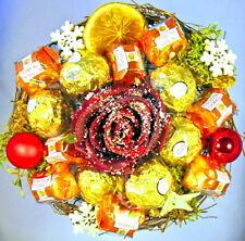 Rocher-Küsschen-Strauß Weihnachten Praline Schokolade Rose Handarbeit Stern